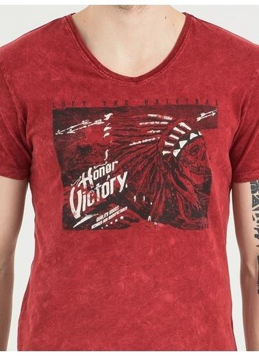 Loft V Yaka Tişört Kırmızı